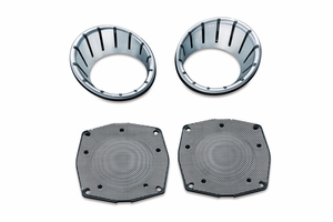 L.E.D Speaker Bezels for Touring & Trike - Chrome