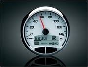 Medallion RACING WHITE Console Gauge
