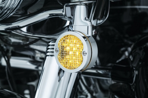 "Mesh Bezels, 3-1/4"" Turn Signals- Chrome"
