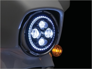 "Orbit Vision 7"" L.E.D. Headlight with White Halo"