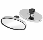 Oval Chrome Mirrors