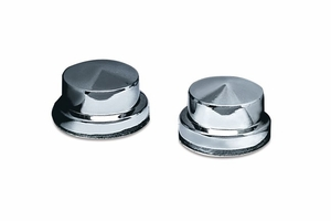 Peaked Head Bolt Covers - Chrome