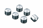 Peaked Rocker Box Bolt Covers - Set of Six -  Chrome