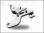 PMI 4 Piston Differential Bore Caliper and Bracket for Touring Models