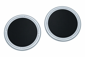 Rear Speaker Accents for Touring & Tri Glide - Chrome