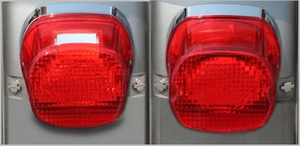 Red Laydown LED Tail Light for HD Models 99 - 10