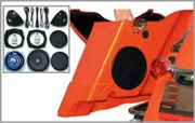 ROKKER XT Saddlebag SubWoofer Speaker Kit