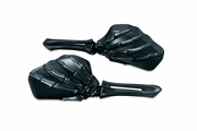 Skeleton Hand Mirrors with Black Stems and Black Heads