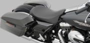 Smooth Black Low-Profile Solo Seat