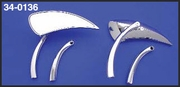 Tear Drop Mirror Set with Two Stem Sets