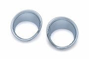 Tri-Line Fuel & Voltage Gauge Bezels  - Chrome