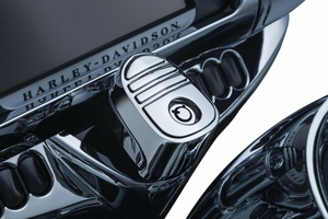 Kuryakyn Tri-Line Ignition Switch Cover  - Chrome