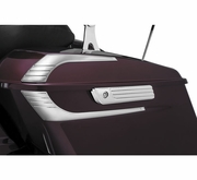Tri-Line Saddlebag hinge Covers Chrome