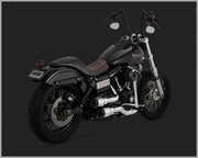 Vance & Hines Hi-Output Grenades - Chrome/Black