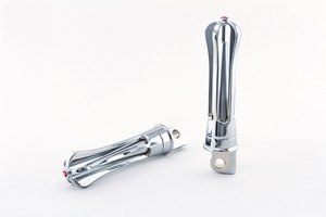 Wireframe Foot Pegs - Chrome