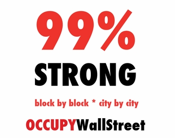 Activist Special! 99% Strong Occupy Wall Street T-Shirt Only $12!