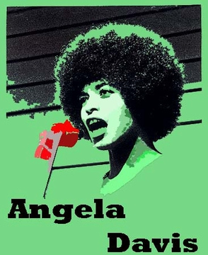 ANGELA DAVIS, GREEN T-SHIRT