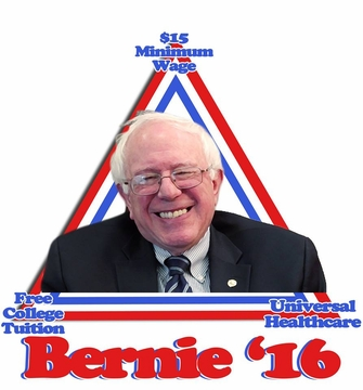 Bernie 2016 Trifecta T-Shirt