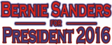 Bernie Sanders For President 2016 Bumper Sticker - White