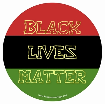 Black Lives Matter Colors of Africa Button
