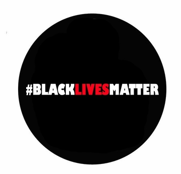 Black Lives Matter Red and Black Button