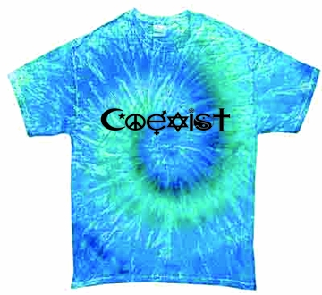 Blue Jerry Co-exist Tie-Dye Shirts