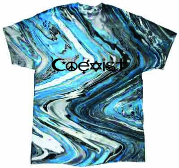 Blue Marble Coexist Tie-Dye Shirt