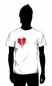 Broken Crumbling Heart T-shirt