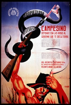 Campesino Defend The Land Spanish Civil War Poster