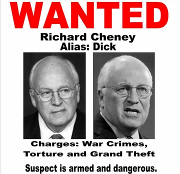 Wanted Dick Cheney Poster T-Shirt