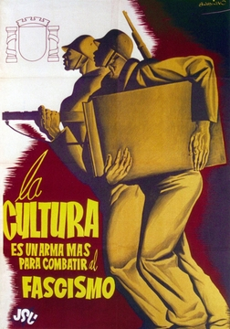 Culture is a Weapon Against Fascism Spanish Civil War Poster