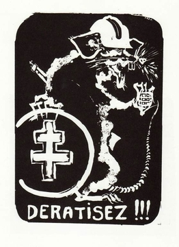 Desratisez (Get rid of the ats) Paris May 68 Street Poster