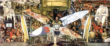 DIEGO RIVERA'S MAN AT THE CROSSROADS POSTER