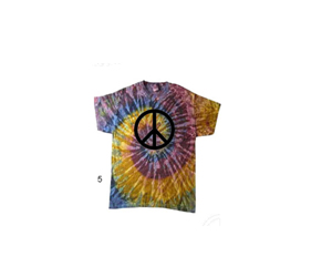 """Galaxy"" Peace Tie Dye Shirt"