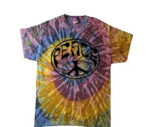"""Galaxy"" Wavy Peace Tie Dye T-shirt"