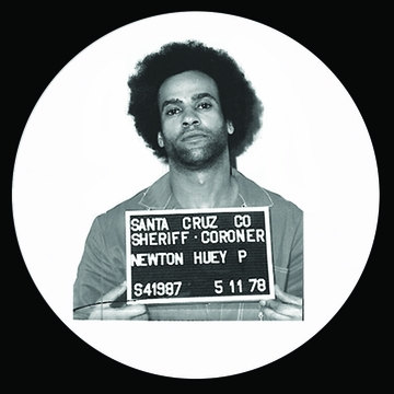 Huey P Newton Mugshot Button