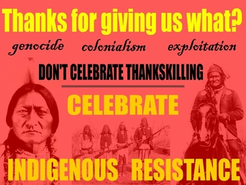 Indigenous Resistance Thanksgiving Poster