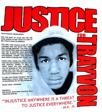 Justice For Trayvon Martin T-Shirt