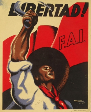 Libertad! Spanish Civil War Poster 11 X 17""