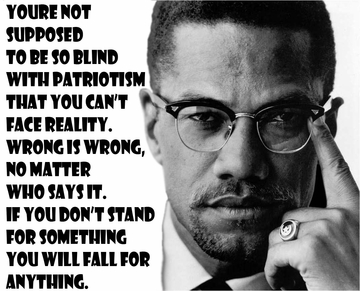 "Malcolm X ""If you stand for nothing you will fall for anything"" T-Shirt"