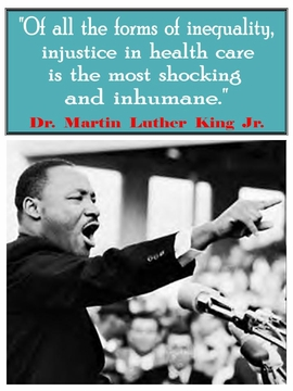 Martin Luther King Healthcare Poster