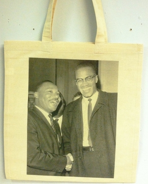 Martin Luther King & Malcom X Photo Tote Bag