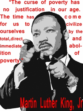 MLK: Immediate Abolition of Poverty T-Shirt