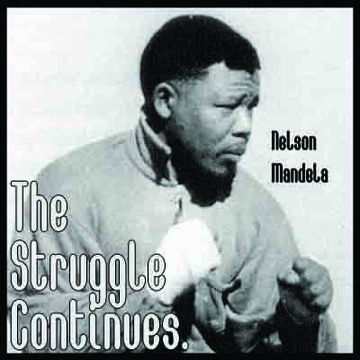 Nelson Mandela The Struggle Continues Poster