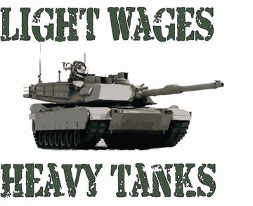 New Anti-War T-Shirt! Light Wages Heavy Tanks