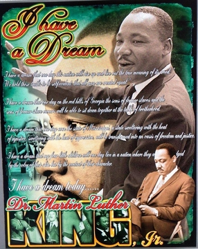 """New For MLK Day 2018! Martin Luther King """"BE THE DREAM"""" T- Shirt Two Sided!"""