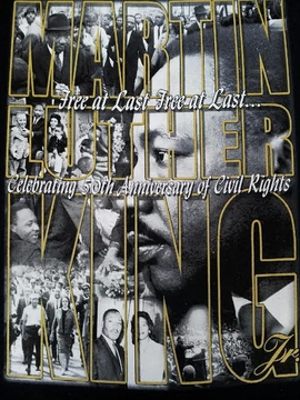 Martin Luther King Celebrating 50th Anniversary Of Civil Rights T- Shirt Two Sided