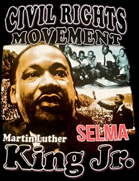 New! Martin Luther King Selma T-Shirt - 2 Sided