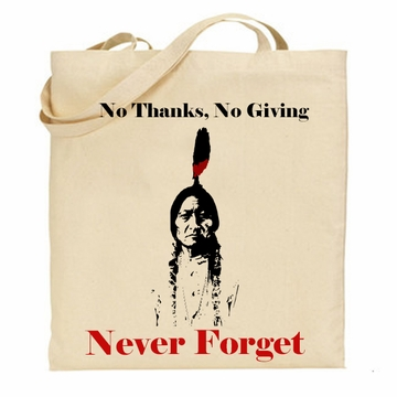 No Thanks No Giving Tote Bag