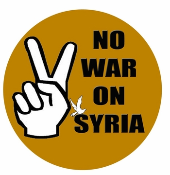 No War On Syria Button